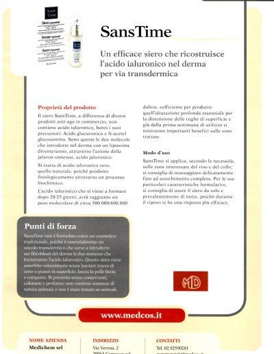 Dermocosmesi - SansTime: un efficace siero che ricostruisce l'acido ialuronico nel derma per via transdermica