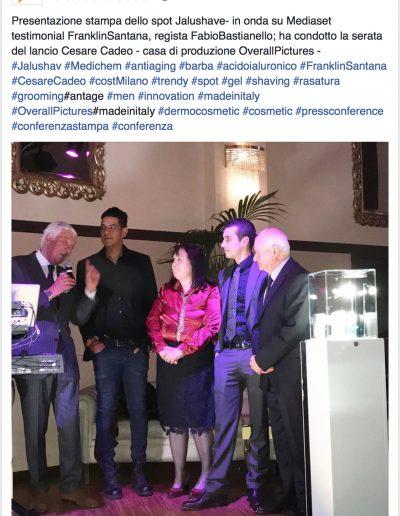 Presentazione stampa dello spot Jalushave - in onda su mediaset